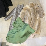 Vintage Dress, Fur Coat, Faux Fur jacket