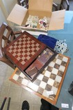 Chess Sets + Glass, Mineral Chess Pieces