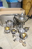 Large Silverplate Lot Including Coffee Pot