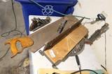 Stanley Miter Box, Plane, Saw antique tool lot