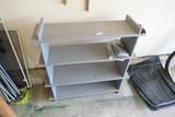 Vintage Grey Painted Wooden Shelf