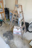 Wooden Ladder and Fan in Box