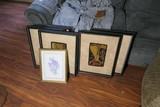 Group lot of framed decor