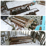 Picnic Table/benches + 2 Black and Post benches