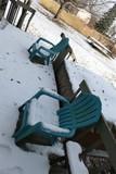 4 Plastic Adirondack type chairs