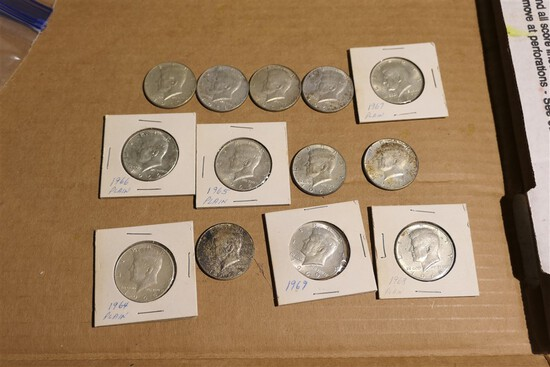 Group Lot of Silver Kennedy Half Dollar Coins