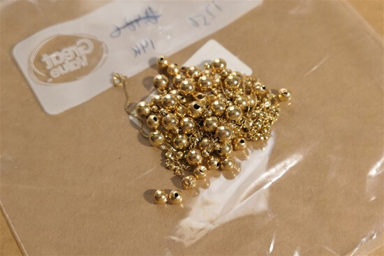 17.56 grams 14k assorted gold beads