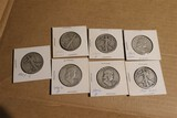 Group of 7 Silver Half Dollar US Coins