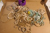Large Lot assorted costume jewelry, beads etc