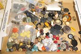 Large Lot of assorted antique buttons