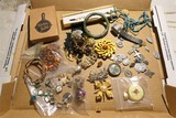Assorted Costume Jewelry, Jade, Old items lot
