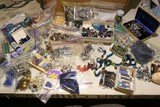 Tub Lot of Nicer antique & Vintage jewelry Beads