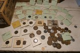 Large lot old foreign coins including nazi germany