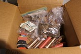 Box assorted pennies coins