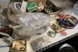 Huge lot assorted jewelry, coins, sterling spoon and more