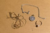 Gold and Sterling Silver Jewelry Lot