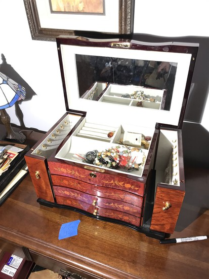 Nice jewelry box and contents
