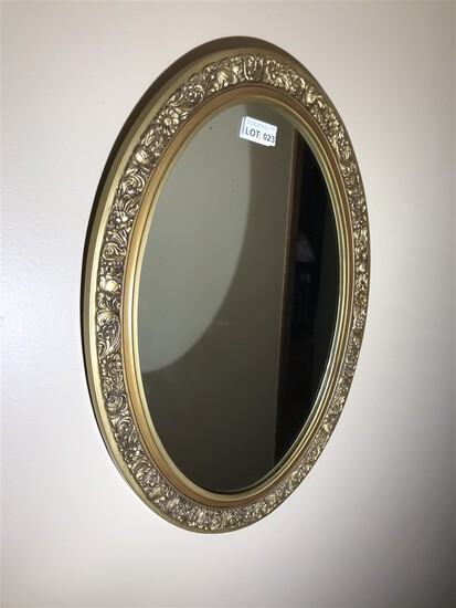 Vintage mirror in hall