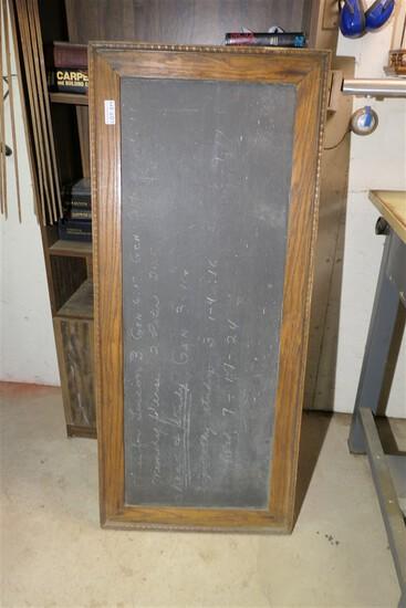 Fantastic antique slate chalkboard w/old lesson