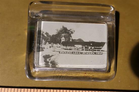 Early Glass & photo pen rest - Buckeye Lake