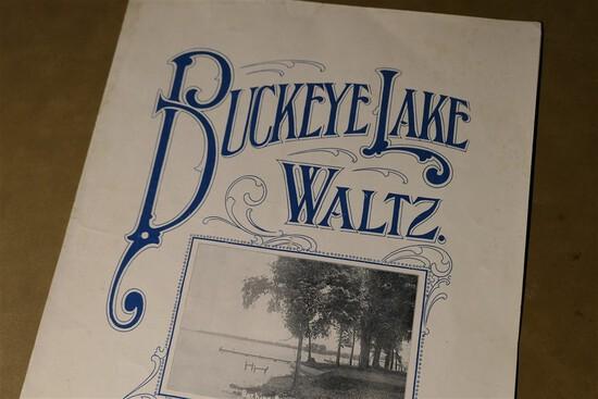 Rare Buckeye Lake Waltz Sheet Music Millersport, Ohio
