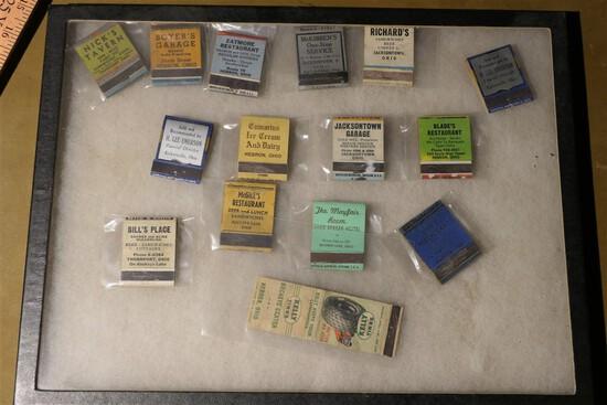Advertising Matchbooks Buckeye Lake & Surrounding