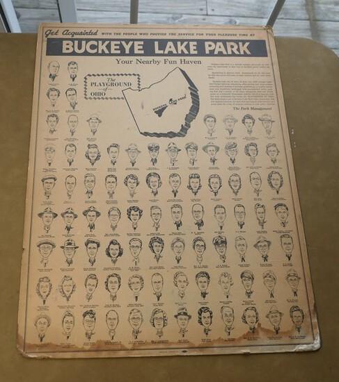 "Rare Buckeye Lake Park ""Get Acquainted"" Poster"