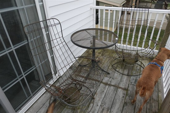 2 Homecrest Mid Century Wire Patio Chairs + Table