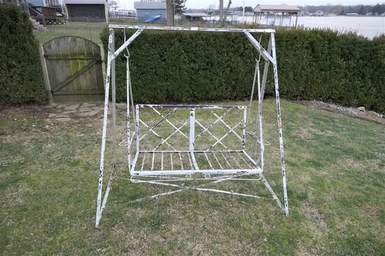 Mid Century Homecrest Metal Garden Swing