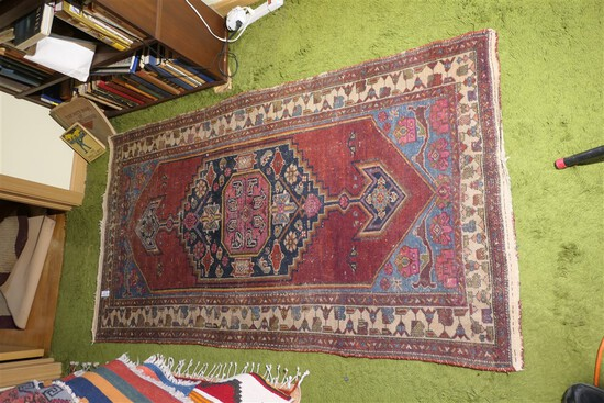 Size Smaller Sized Antique Persian rug or carpet - Hand Knotted