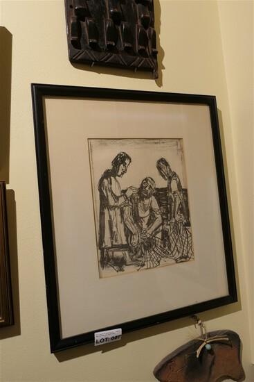 Original etching by Otto Dix - Matthaus Evangelium