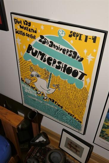 Rare 1995 Bumbershoot Concert Poster - Original