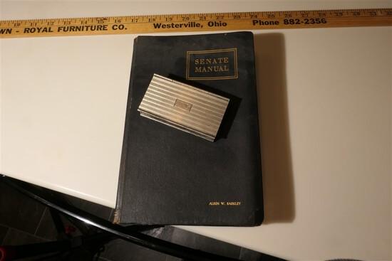 Vice President Alben Barkley's Sterling Stamp Holder & Senate Manual