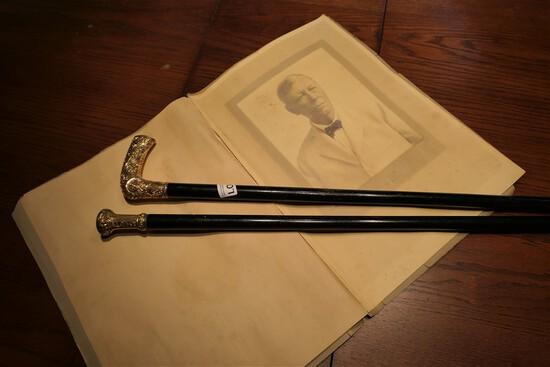 2 Engraved Canes, Photograph of Congressman William Waller Rucker