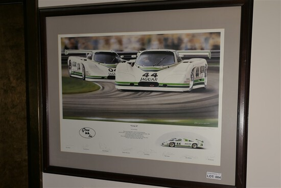 Vintage Jaguar Racing Group 44 Inc. Poster - Signed
