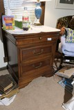 Vintage wooden Bedroom Nightstand
