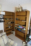 2 Wooden Shelf Units