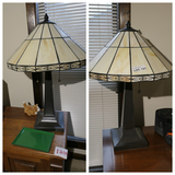 Pair of Leaded Glass Table Lamps