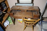 Antique Spinet Desk + Chair