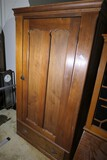 Antique Walnut Armoire Cabinet