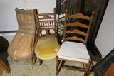 Group of 3 antique chairs