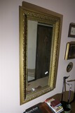 Antique bevelled glass mirror