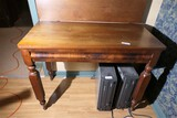 Antique Figured Veneer Folding Leaf Table
