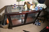 Wood and glass display or curio cabinet