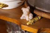 Antique carved bone or ivory dog whistle PLUS