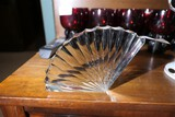 Antique unusual glass shell art piece
