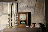Clock, candlesticks etc lot