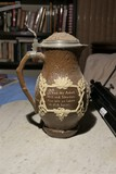 Antique tan and white large stein or tankard