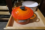 Le Creuset Lidded Pot or saucepan t in Orange Enamel