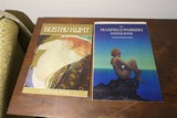 2 Vintage art books - Klimt and Maxfield Parrish